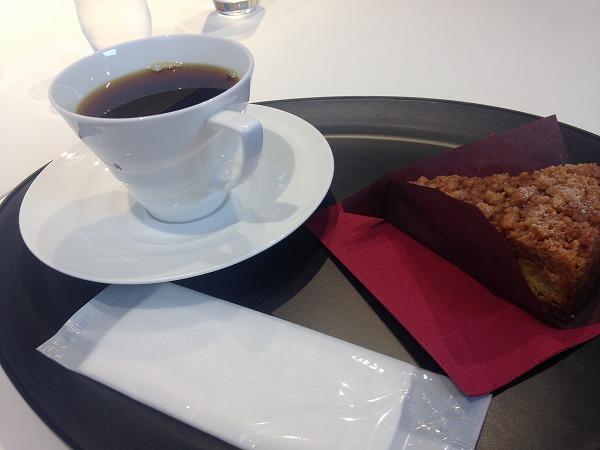 ミカフェート元町店コーヒーとタルト